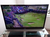 """Sony Bravia 46"""" LCD TV including Soundbar stand"""