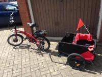 Electric bike folding ebike with trailer carrier cargo bike battery scooter