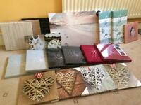 Canvas Wall Art Fabric Frames Wall Prints Carboot Joblot Job Lot House Clearance