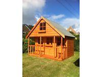 childrens wooden playhouse 2 storey slight second