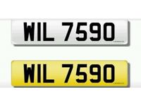 Registration / cherished transfer / private number plate / WIL 7590 No.