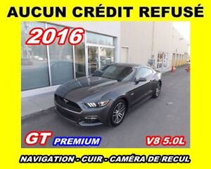 2016 Ford Mustang **GT**V8 5.0L**Premium**Navigation, Cuir, Mags