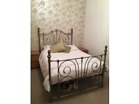 Like new double bed and orthopaedic mattress, excellent condition