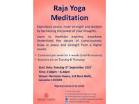FREE Meditation Course (Starts 5th September, 7.00pm - 8.30pm)