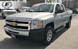 2011 CHEVROLET SILVERADO EXT CAB 4X4 /RUNNING BOARDS
