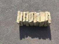 6x reclaimed concrete pressed edging stones