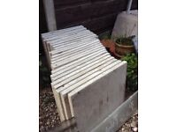 Paving flags 2 X 2 25 in total good condition.