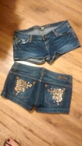 ABERCROMBIE AND GUESS DENIM SHORTS