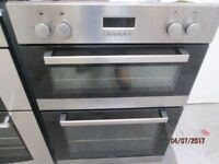 *+*+BELLING CHROME INTEGRATED DOUBLE OVEN/FULLY RECONDITIONED/VERY CLEAN/+UPLIFT