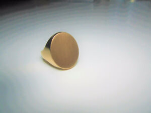 14K Gold Engravable Men's Signet Ring