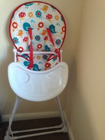 Folding high chair for sale in good condition