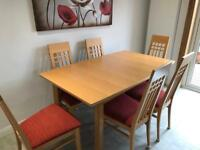 John Coyle Dining Table 6 Chairs