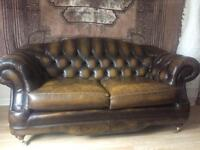 2 seater chesterfield sofa and arm chair.