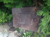 Cast iron man hole cover