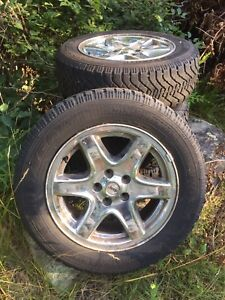 "Set of 4 snow tires with jeep 17"" rims"