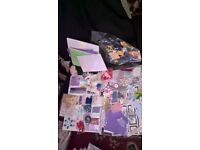 card making /craft supplies and book on scrap booking either job lot or seperate packs