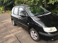 Hyundai matrix 1.6 gsi 2006, mpv, black, manual, 5 door hatch, 91k s/h, mot until July 2018,
