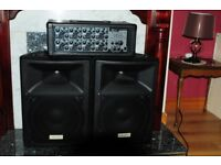 Used, mint condition, 200 w meridian H500 mixer, complete PA system