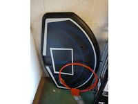 Basketball board with hoop