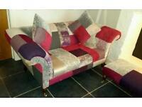Gorgeous DFS 'Fashionista' Patchwork Sofa Set /Furniture