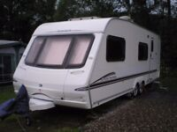 Swift Charisma 590 Caravan 2006 6 berth with two fixed bunks and large bathroom