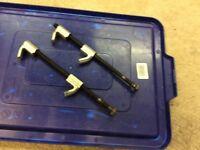 Pair of motor bike spring clamps