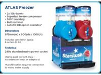 STAR SLUSH ATLAS FREEZER, 2X15 LITTERS,SUPER FAST FREEZE,BUILT IN TIMER,6 MONTHS OLD,FULLY WORKING