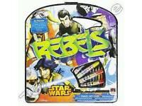 12 x Disney Star Wars Rebels 40 piece Travel Art Case Colouring Set