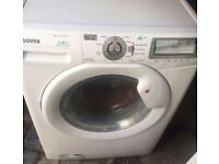9KG GREY HOOVER DYNAMIC WASHING MACHINE & DRYER, LED DISPLAY, EXCELLENT CONDITION, 4MONTHS WARRANTY