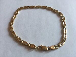 """solid GOLD bracelet 10k 3.3g 7.25"""" bracelet en OR massif"""