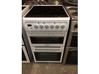 Hotpoint EW48P 50cm Double Electric Cooker With Ceramic Top