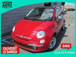 2012 Fiat 500 *LOUNGE*CONVERTIBLE*ROUGE*CUIR ROUGE*