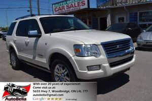 2007 Ford Explorer Limited 7 Pass V8 4X4 Leather Sunroof No Acci