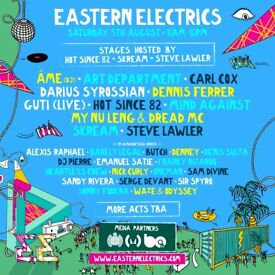 * 2 x Eastern Electrics VIP tickets - Saturday 5th August - Morden Hall Park - £75 each *
