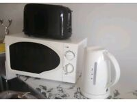 Kettle, toaster and microwave kitchen appliance set HOUNSLOW OR HIGH WYCOMBE