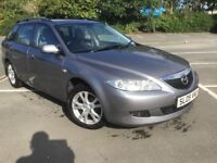 LOOK FAST IT WON'T LAST 05 MAZDA 6 TS 2-0 ESTATE CAR, SERVICED, FULL MOT £695 P/EX, CARDS, DELIVERY