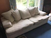 2 large 3/4 seater sofas