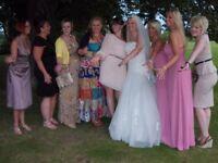 Pink chiffon bridesmaid dress size 10