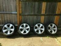 "Bmw 18"" star spoke alloy style 287 with tyres"