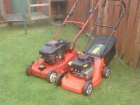 PETROL MOWERS X2 ONE SELFPROPELD AND ONE PUSH £40 EACH