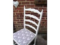 Lovely Shabby Chic Dining/Living Chair Painted in Antique White Colour