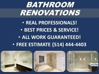 NEED A BATHROOM RENOVATED?