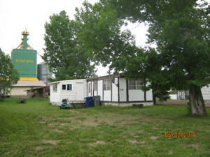 smaller mobile home on titled lot (50x120 ft)