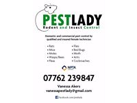 Insect and Rodent Control by qualified and insured female pest control technician