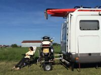 Easylifter hydra tail motorcycle carrier rack trailer carry a scooter on the back of car or camper