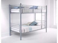 ★★ FREE DELIVERY ★★ METAL BUNK BED ★ SINGLE BOTTOM AND SINGLE TOP STANDARD 3FT SIZE BUNK BED