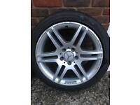 MERCEDES W204 C CLASS AMG ALLOY WHEELS 5x112