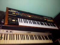 Vintage synthesizer. Roland, Juno 60 A great analogue machine. 76 programmable patches