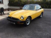 Classic Sports Car for sale. MGB GT