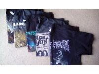 Reduced for quick sale- Metal t shirts job lot
